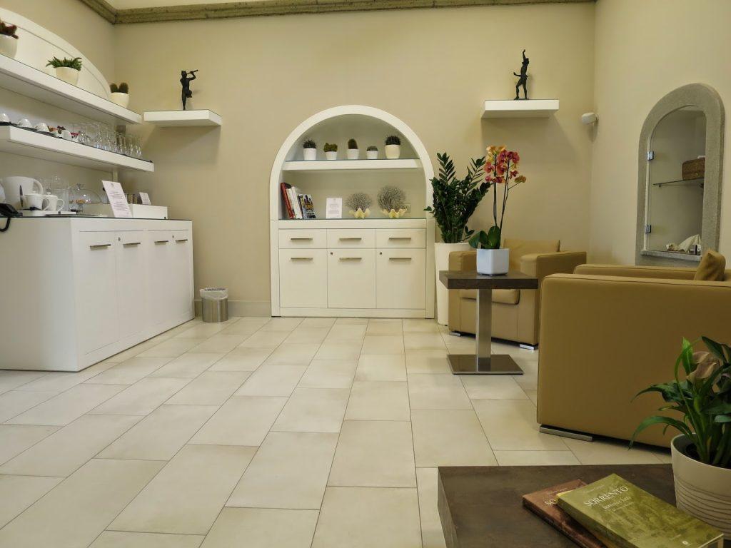 the reading room in magi house, sorrento, italy