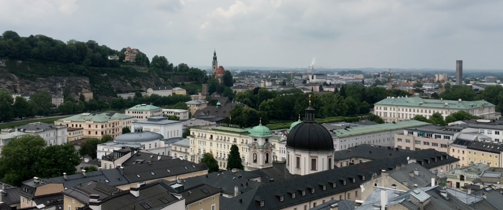 View over rooftops of Salzburg old town