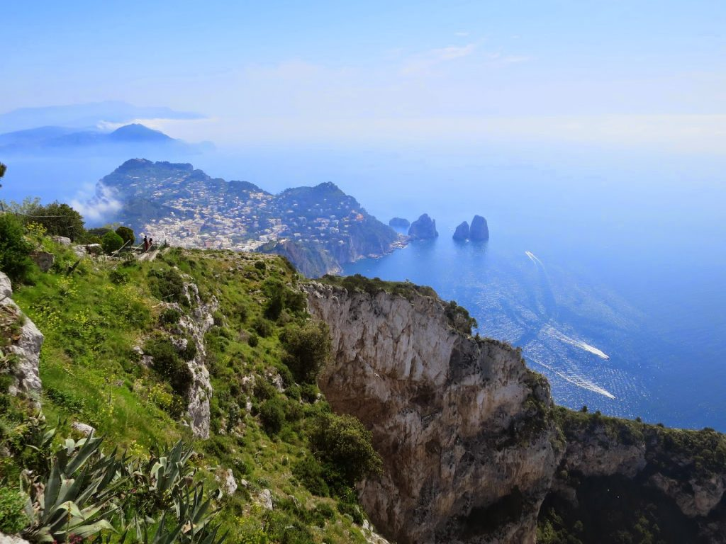 magical view from mount solaro on capri island, italy